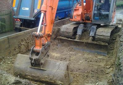 Afgraven en vervoeren van grond